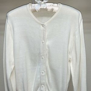 Off White Cardigan YARNWORKS Button Front